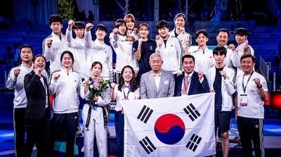 대한민국 2019 로마 월드태권도 그랑프리 종합우승